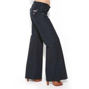 Hudson Deluxe Wide Leg Jeans Dark Wash  90's